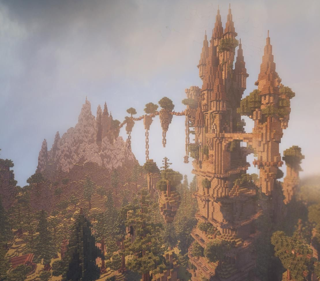 Thought I'd share an image of my latest build; a fantasy castle surrounded by an enchanted forest