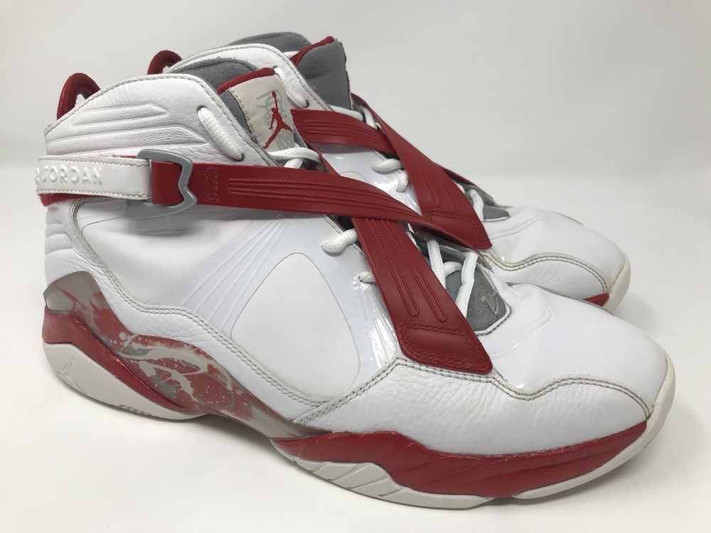 finest selection fc8e7 488c1 NIKE AIR JORDAN 8.0 RETRO 467807-101 MEN S WHITE-RED-GRAY SHOES SIZE 10.5   NikeAirJordan  AthleticSneakers