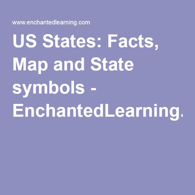 L US States Facts Map And State Symbols EnchantedLearning - Us state facts map and state symbols