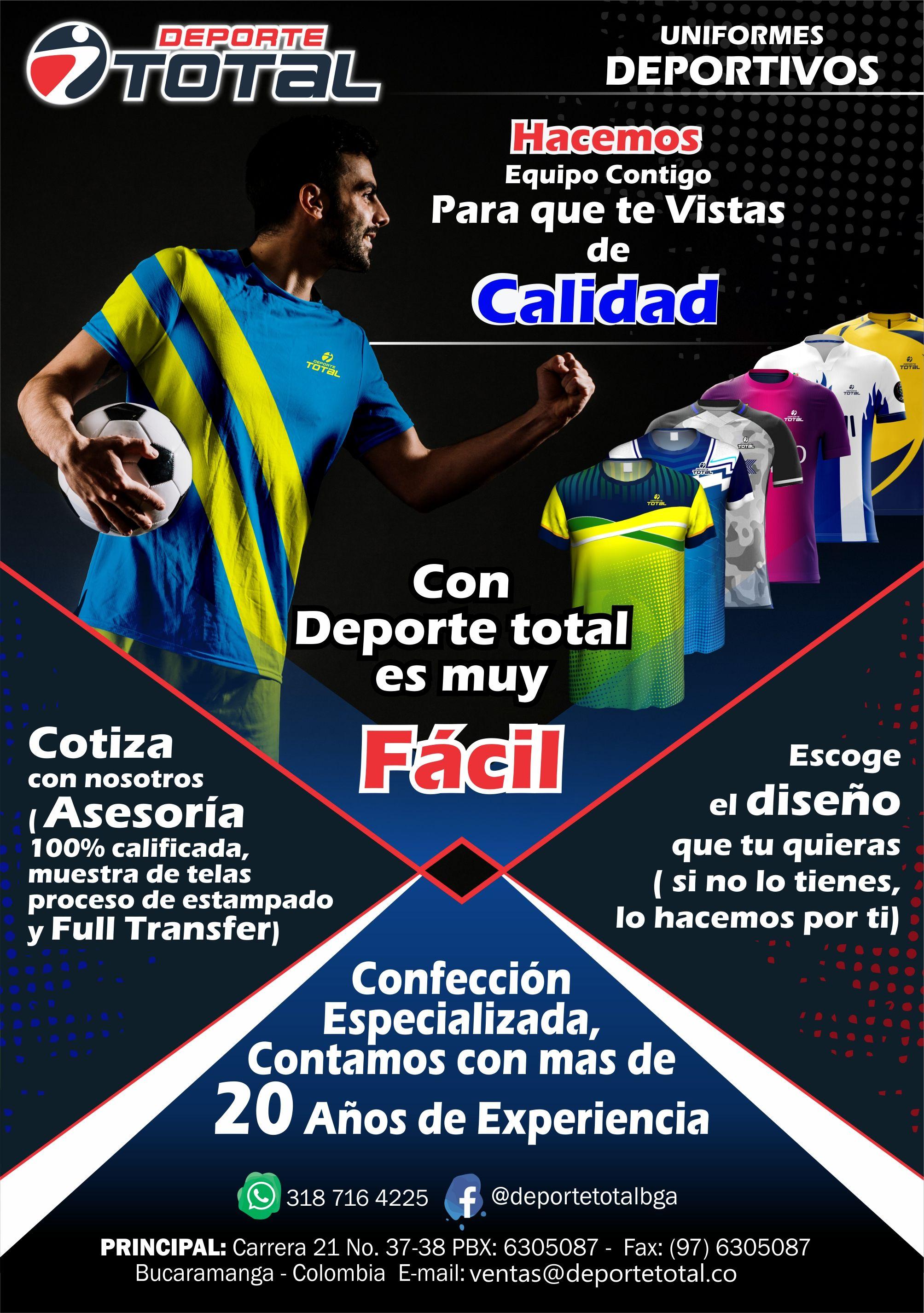 319f5886dc752 Uniformes Deportivos - Deporte Total Bucaramanga - Calidad - Diseño -  Tecnologia - Innovacion.