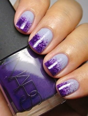 nails acrylic ombre purple 67 ideas  purple nail art