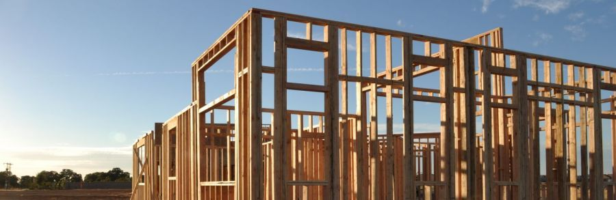 House Frame Made By The Building Company In Nelson Building Companies Building House