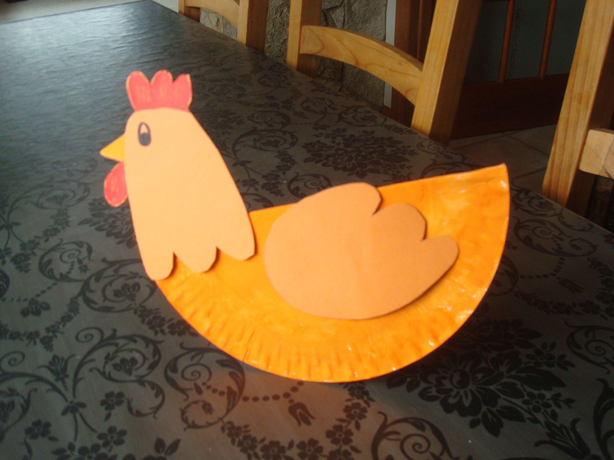 Chicken Crafts Paper Plates