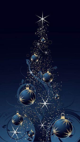 Immagini Di Natale Per Cellulare.Christmas Alberi Di Natale Blu Sfondo Natalizio Immagini Di Natale