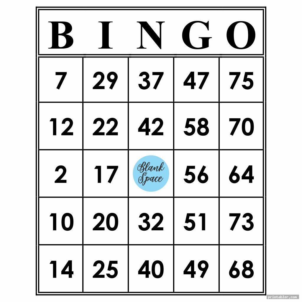 Printable Bingo Numbers 1 75 Template For Use Bingo Printable Free Printable Bingo Cards Bingo Cards Printable