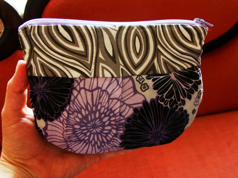 Flowered Essentials Bag. $8.99 USD, via Etsy.