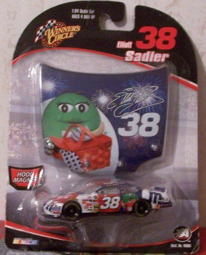 Elliott Sadler #38 Ford MMs July 2006 Daytona Paint Scheme Winners Circle 1/64 with 1/24 Scale Hood by Action Performance. $8.99. Exact Replica of Red, White, & Blue M & m's car. Hood Magnet. This is a Winner's Circle, 1:64 scale, die cast collectible of #38 Elliot Sadler's 2006 Red White & Blue M & M's Car.