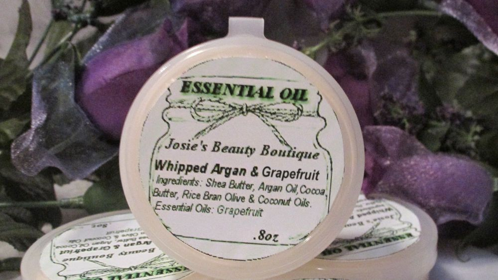 Whipped Argan Oil & Grapefruit Essential Oil Shea & Cocoa Butter Plus More! .8oz