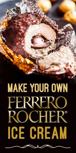 Make Your Own Ferrero Rocher Ice Cream