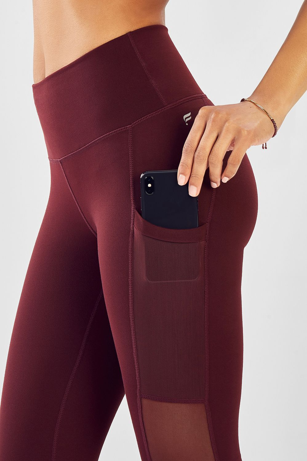 25bc7dc99217dc Mila Pocket Legging | Outfit | Burgundy leggings, Mesh fabric, Pocket