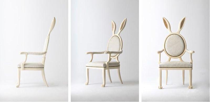 silla que parece un conejo