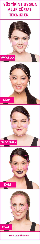 Yuvarlak Yüzler için Makyaj ipuçları