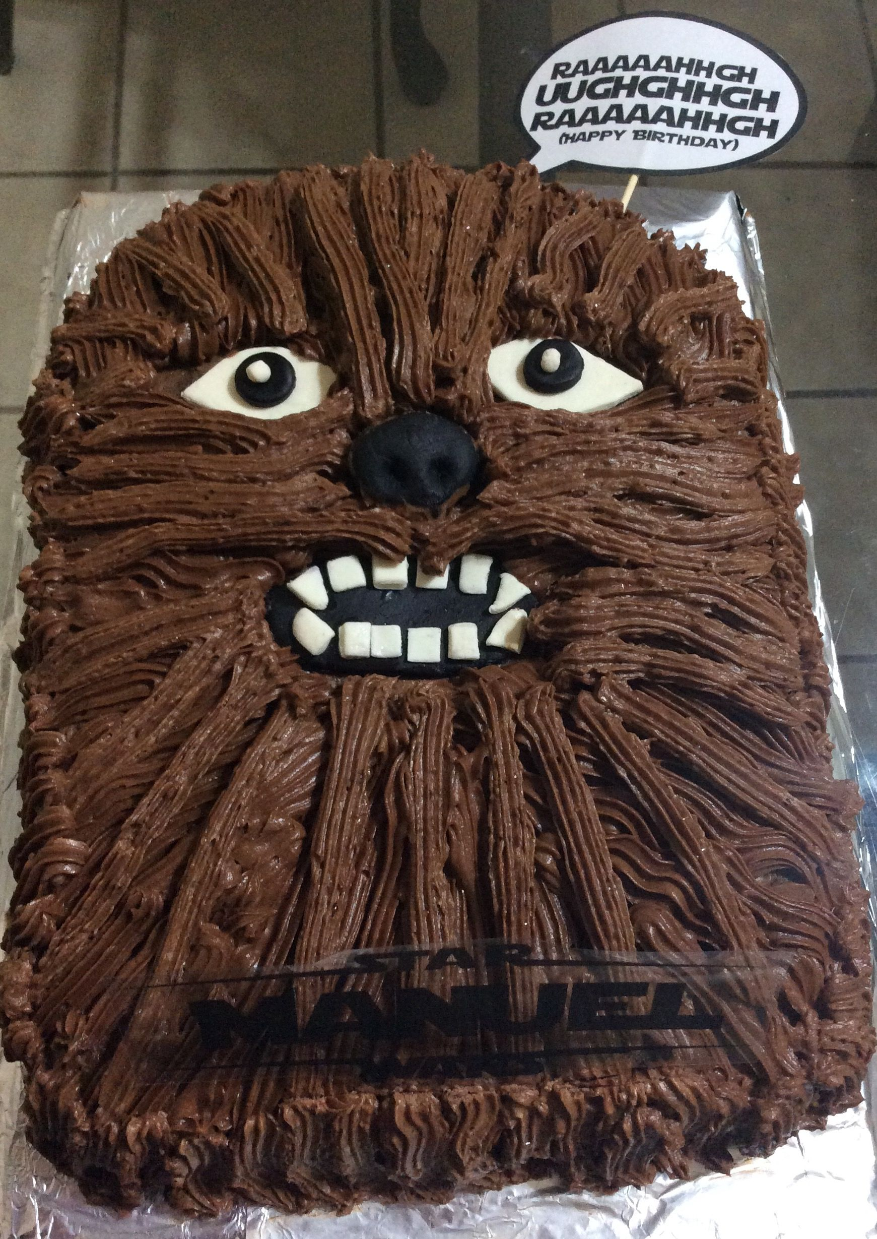 Chewbacca Starwars Cake Birthday Yummy Treats Pinterest