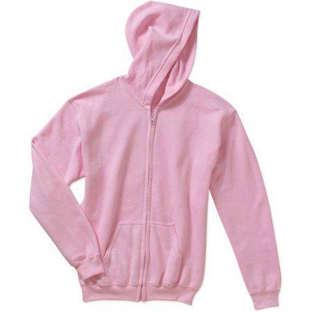 Gildan Kids Full Zip Hooded Sweatshirt, Boy's, Size: XL, Pink ...