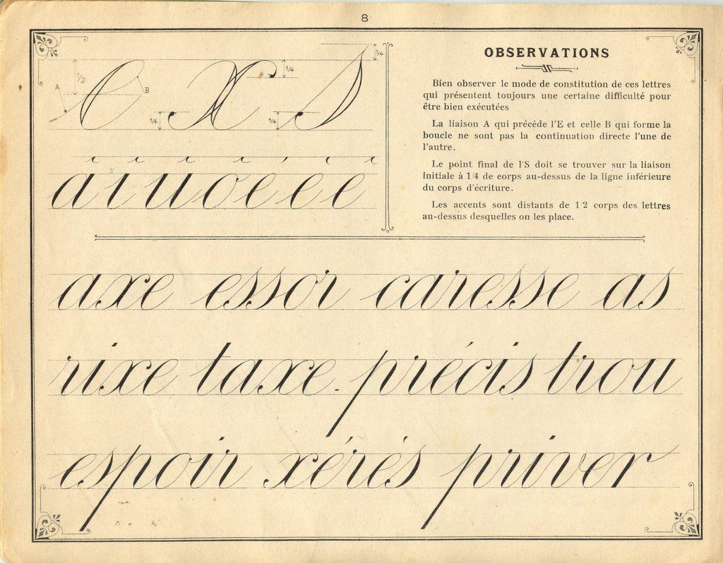 French Instruction Manual Page 8 Cursive Accents And Among Other Things S Rises A Bit