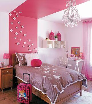 Chambre Rose Soyeux Rouge Cerise Deco Chambre Fillette