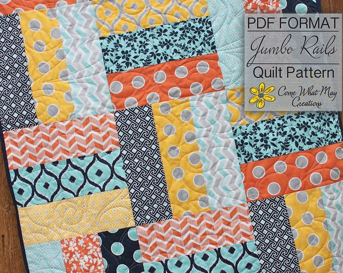 Not Your Mother's Rail Fence - PDF Quilt Pattern ...