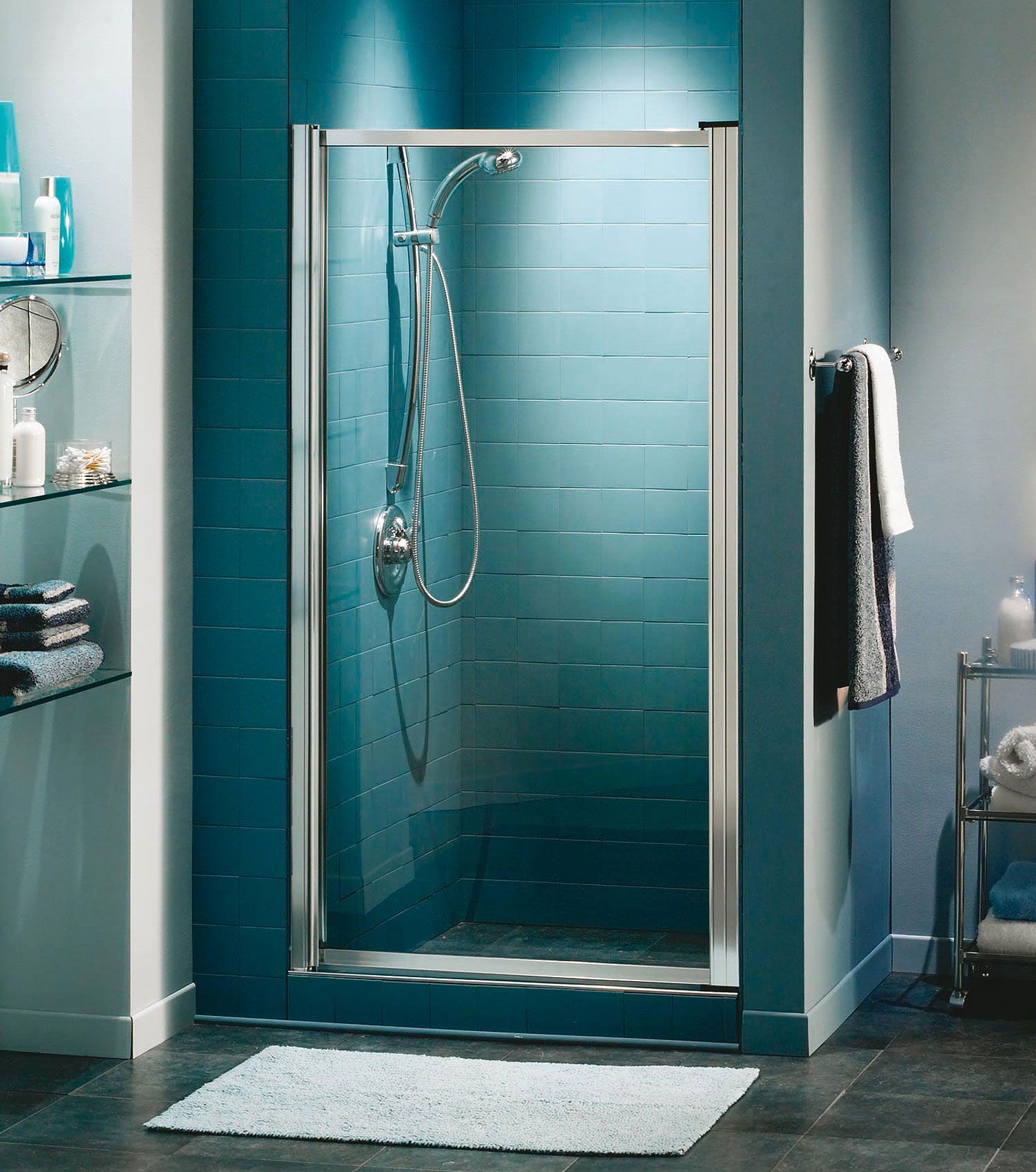 Pivolok Pivot Shower Door 19 20 X 64 In Porte De Douche Douche Remodeler La Douche