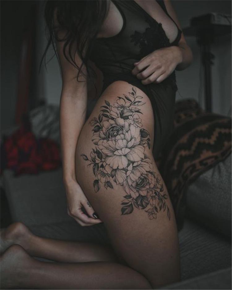 ✔ Cute Tattoos On Hip Rose #cutegirls #cuteboys #cutepuppies