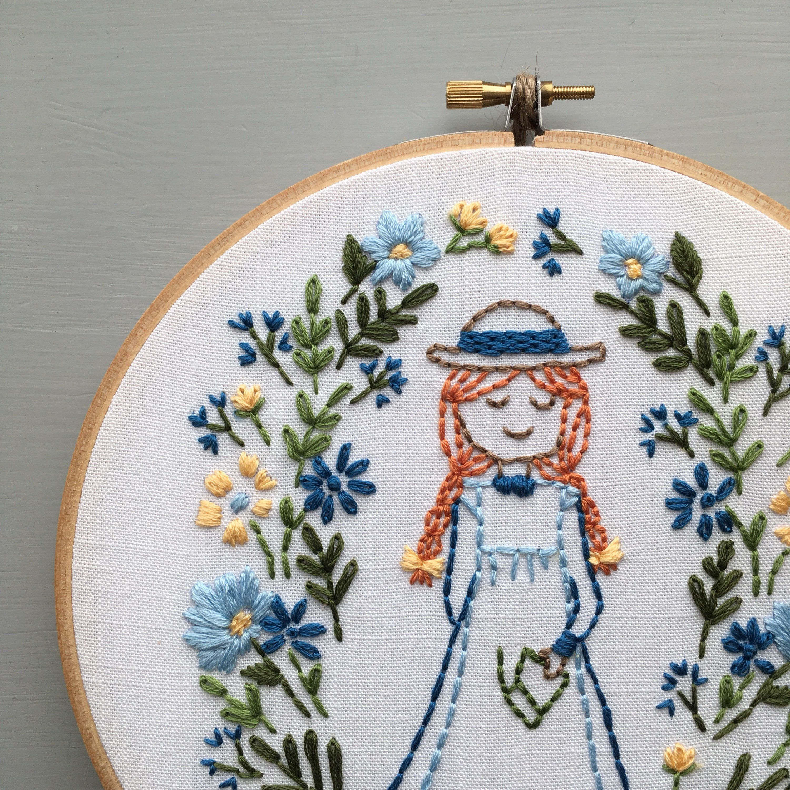 Anne Of Green Gables Digital Pattern Hand Embroidery Diy Hand