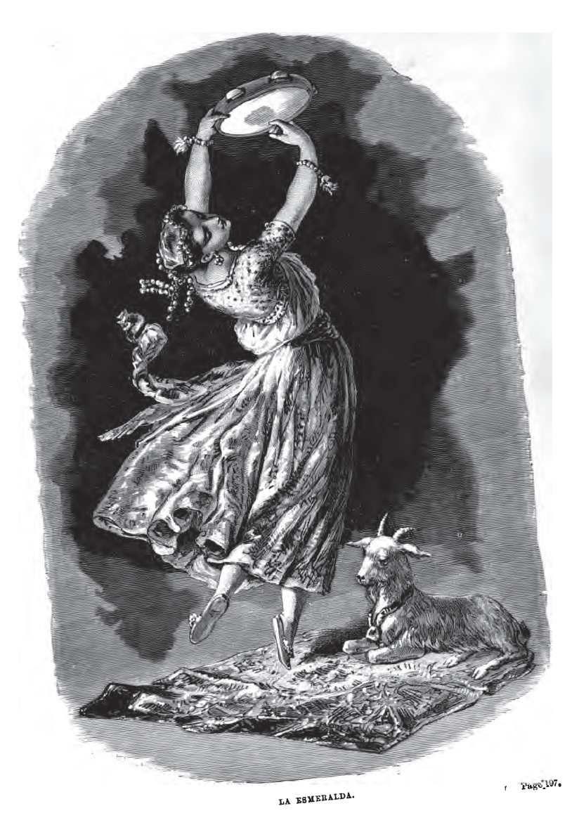 Esmeralda And Djali - Illustration Notre Dame De