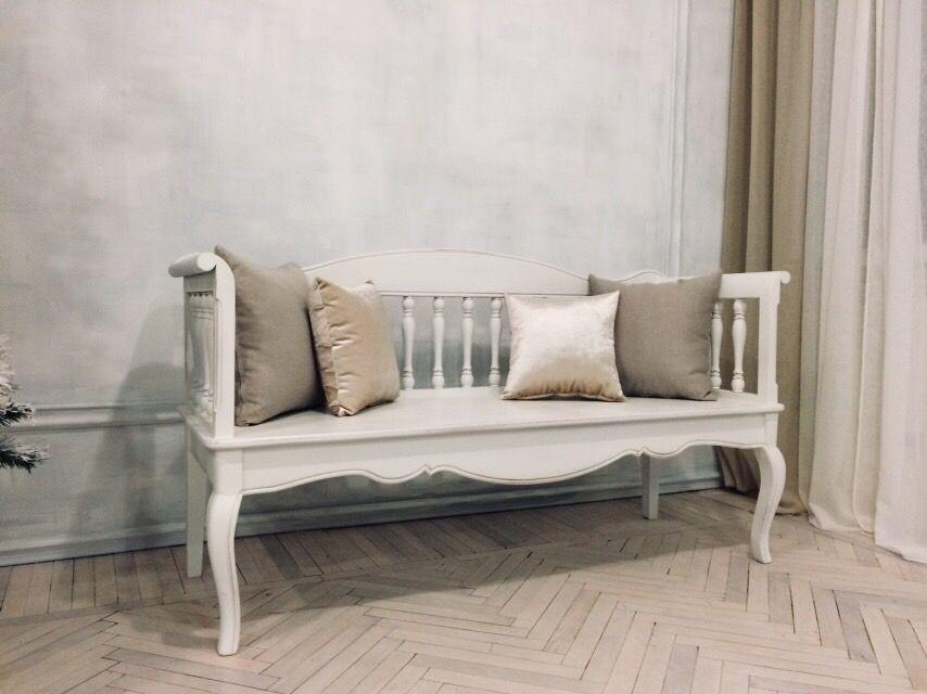 Скамейка для спальни в стиле прованс фото