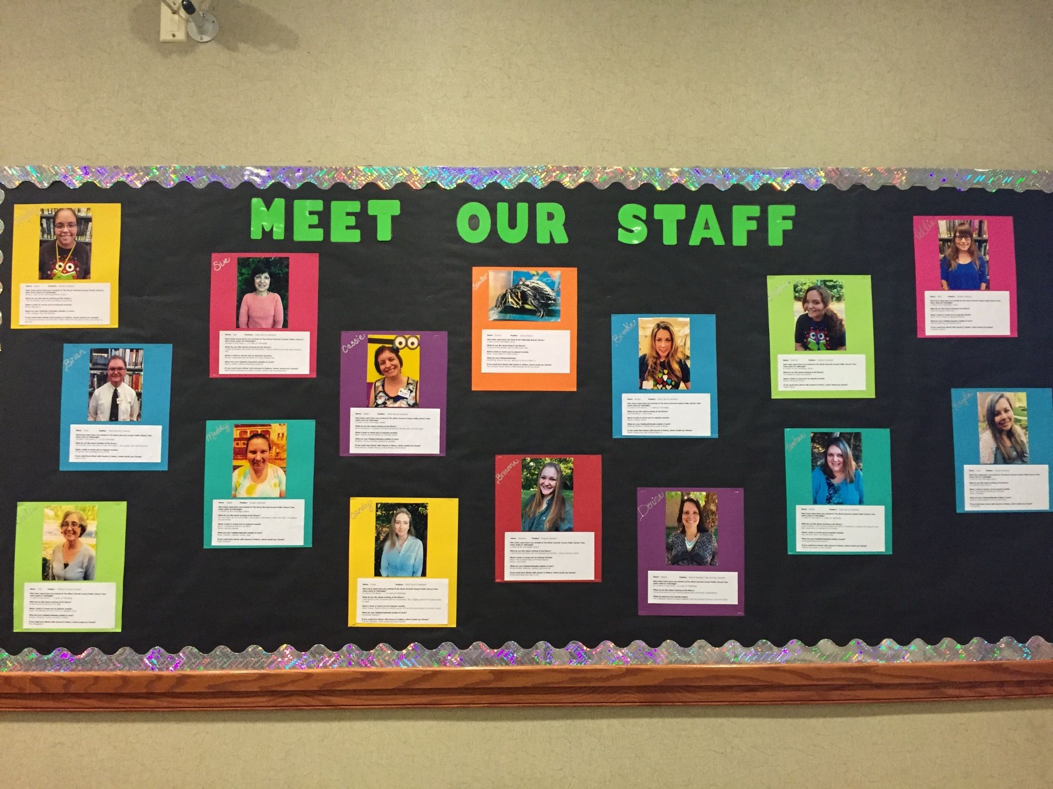 Tallmadge Meet Staff Bulletin Board Daycare