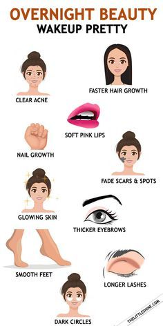 NATURAL OVERNIGHT BEAUTY TIPS TO WAKEUP WITH CLEAR SKIN AND SHINY HAIR -   19 beauty Tips products ideas