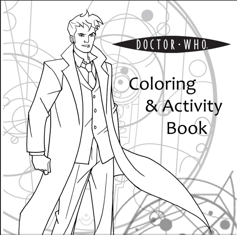 free and printable 17 page doctor who coloring and activity book goodbye productivity