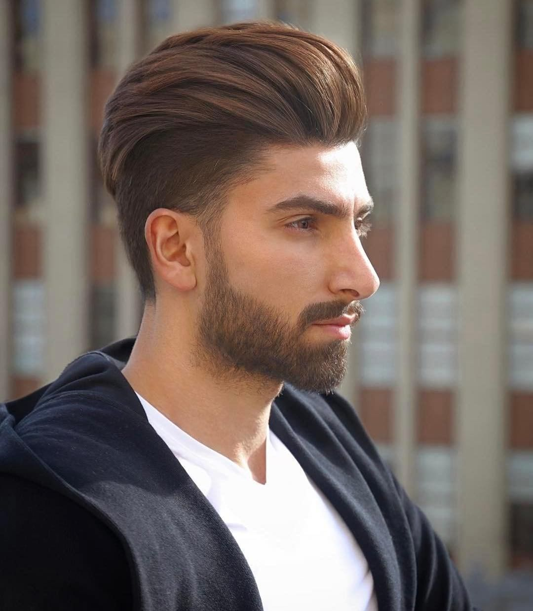 Undercut With A High Volume Backcombed Pompadour The Latest Hairstyles For Men And Women 2020 Hairstyleology Mens Hairstyles Undercut Undercut Hairstyles Undercut Long Hair