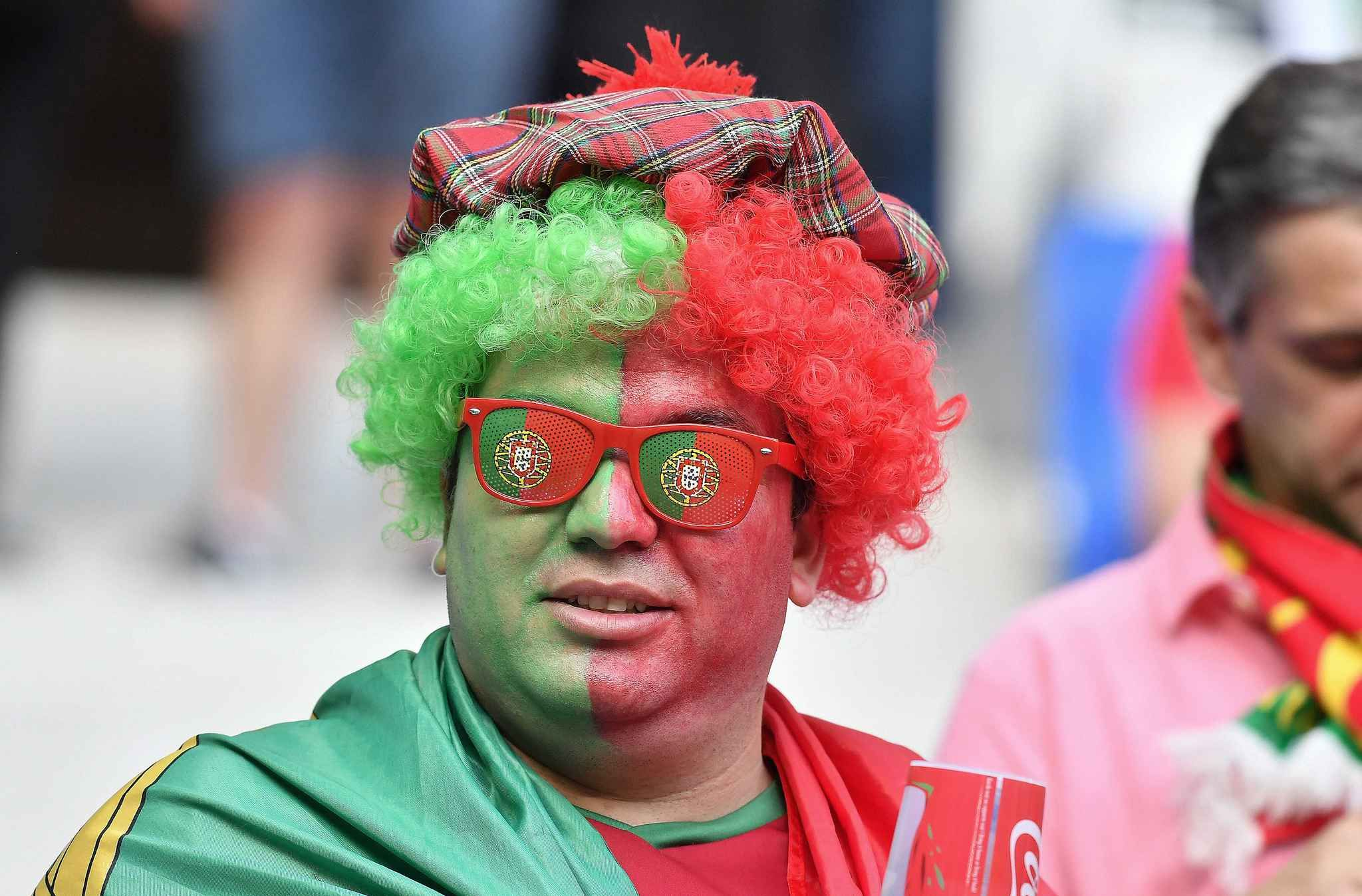 Portugal's Fan attends the Euro 2016 semifinal soccer match between Portugal and Wales at the Grand Stade in Lyon, FRANCE-06/07/2016/Credit:NIVIERE/SIPA/1607071104