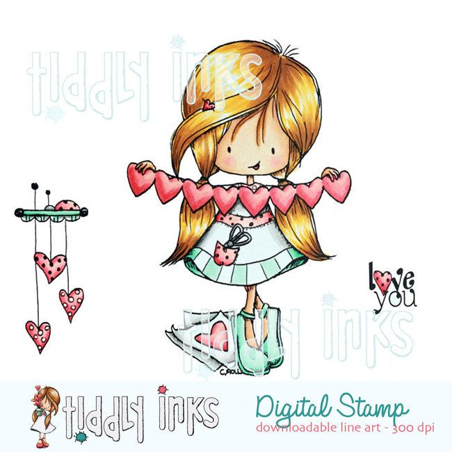 Digital Stamp Wryn with Glasses