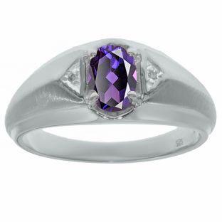 6ad463ba32bfb Men's Diamond Alexandrite Ring White Black Yellow White Rose Gold ...