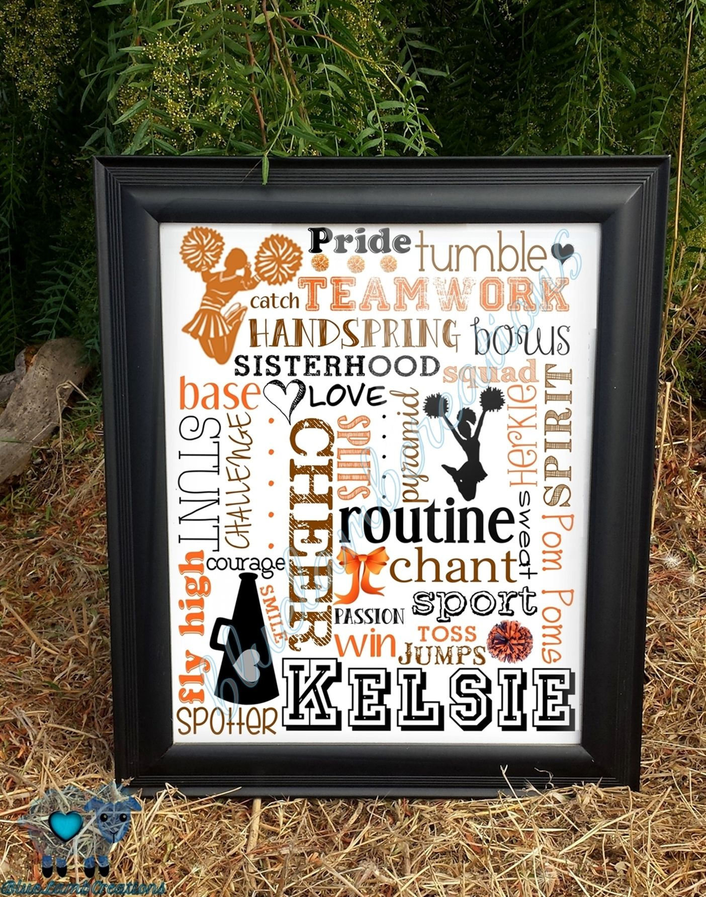 A+unique+gift+for+your+favorite+Cheerleader. *Listing+is+for+a+16x20 ...