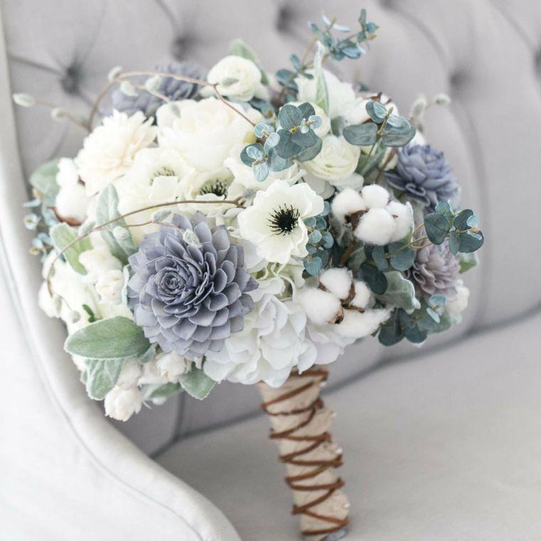 Bouquet Sposa Azzurro.1001 Idee Di Bouquet Sposa Per Scegliere Un Elemento