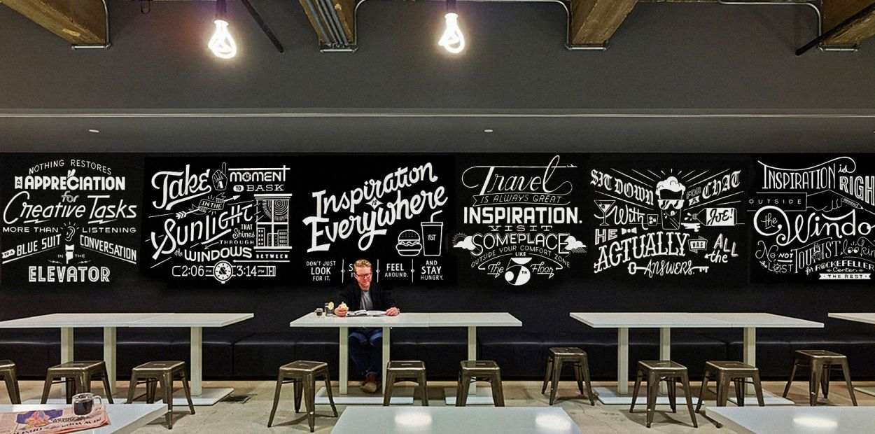 Assemblage Office Wall Graphics Cafe Wall Wall Design