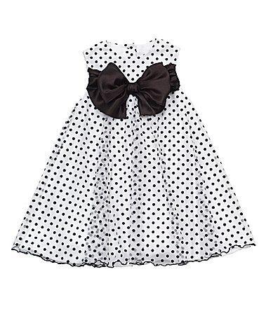 Rare Editions 2T6X FlockedDot Dress #Dillards
