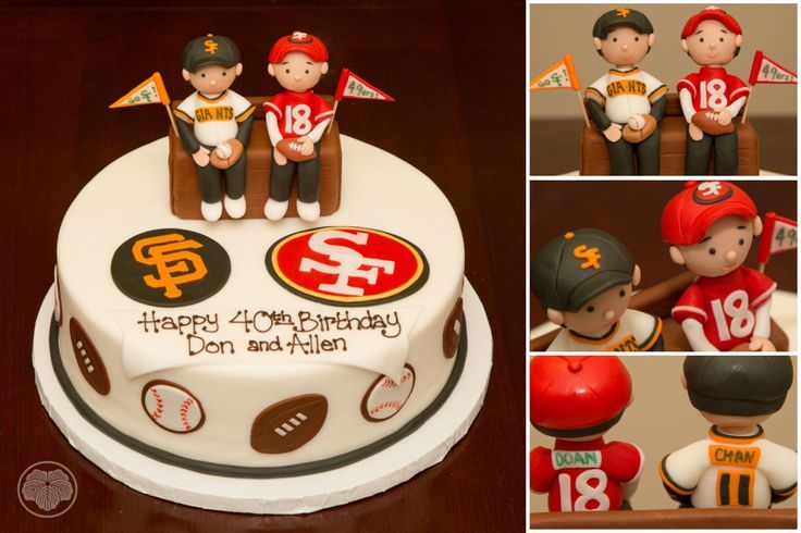 40th birthday cake for San Francisco Giants and 49er fans Wedding