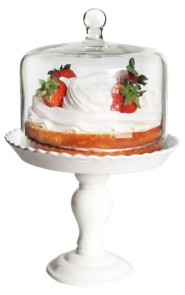 Pedestal Plate w/ Glass Dome | So Sweet! | One Kings Lane