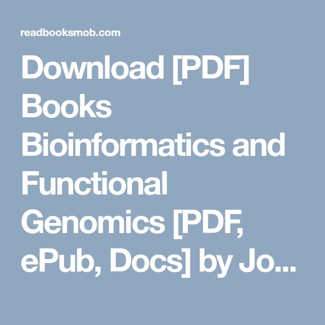 Pdf pevsner bioinformatics