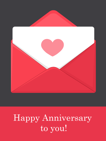 You Ve Got Mail Happy Anniversary Card Birthday Greeting Cards By Davia Happy Anniversary Cards Happy Anniversary Birthday Greeting Cards