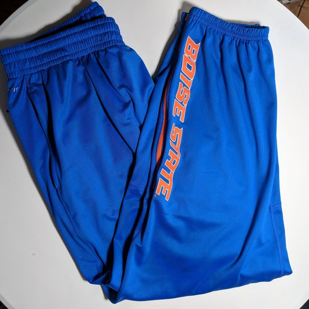 Mens nike dri fit boise state broncos track pants size