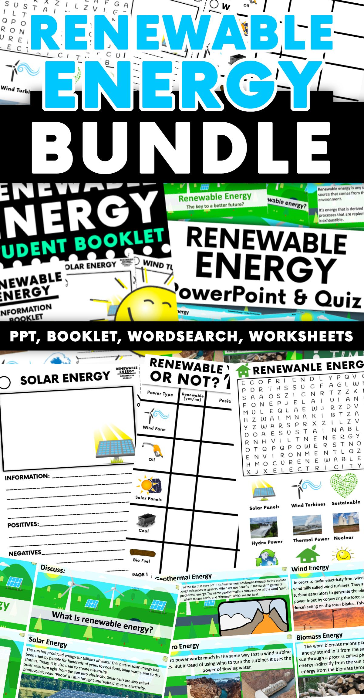 Renewable Energy Activity Bundle Ppt