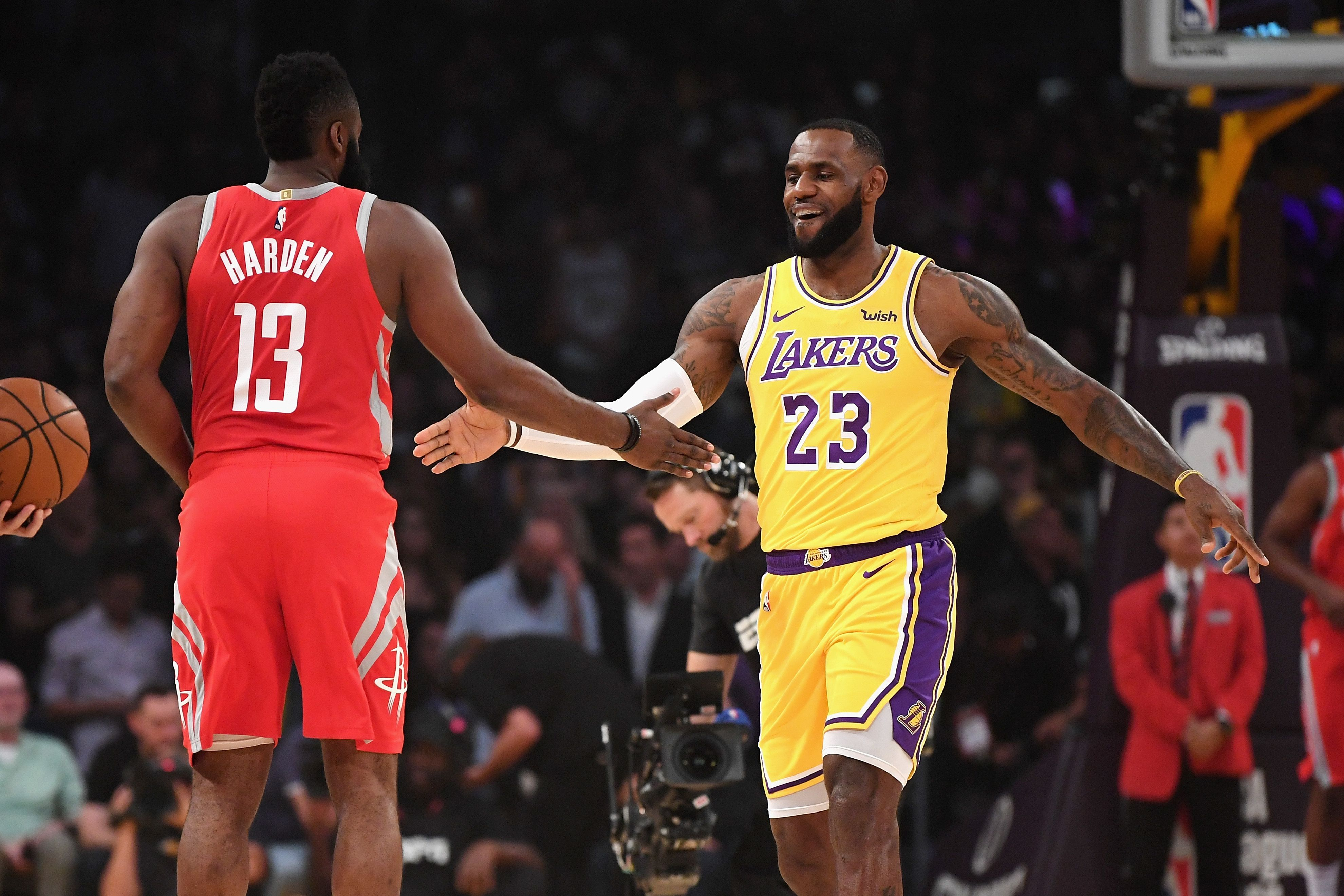 Are LeBron James and James Harden playing by another set