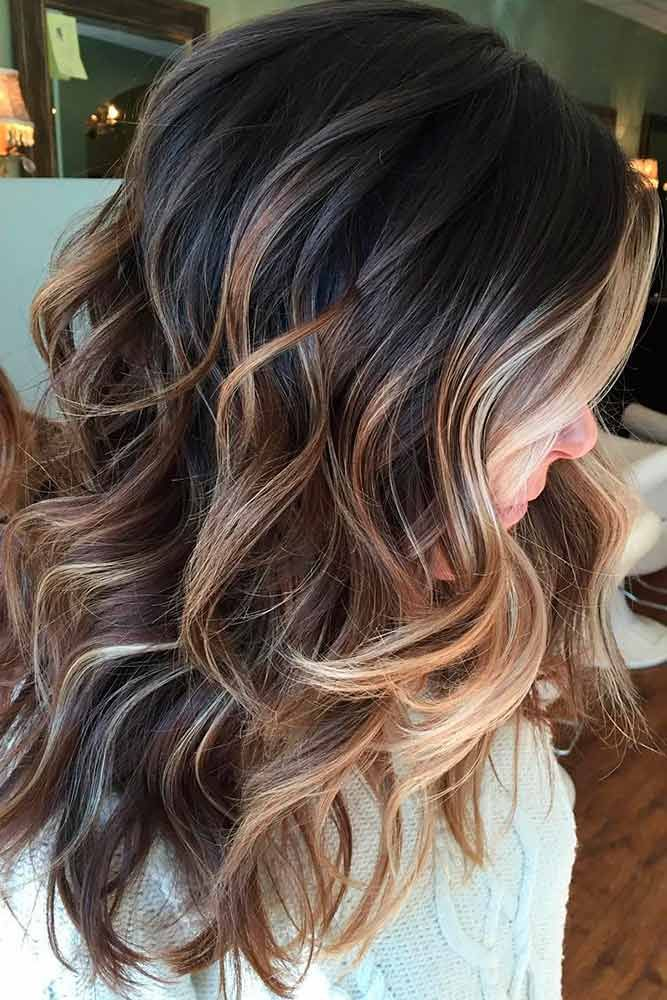 59 Game Changing Medium Length Layered Haircuts For All Textures Brunette Balayage Hair Hair Styles Fall Hair Color For Brunettes