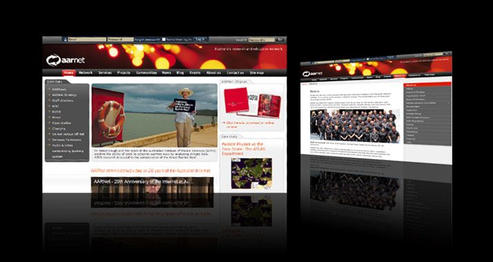 AARNET rebranding collateral and website