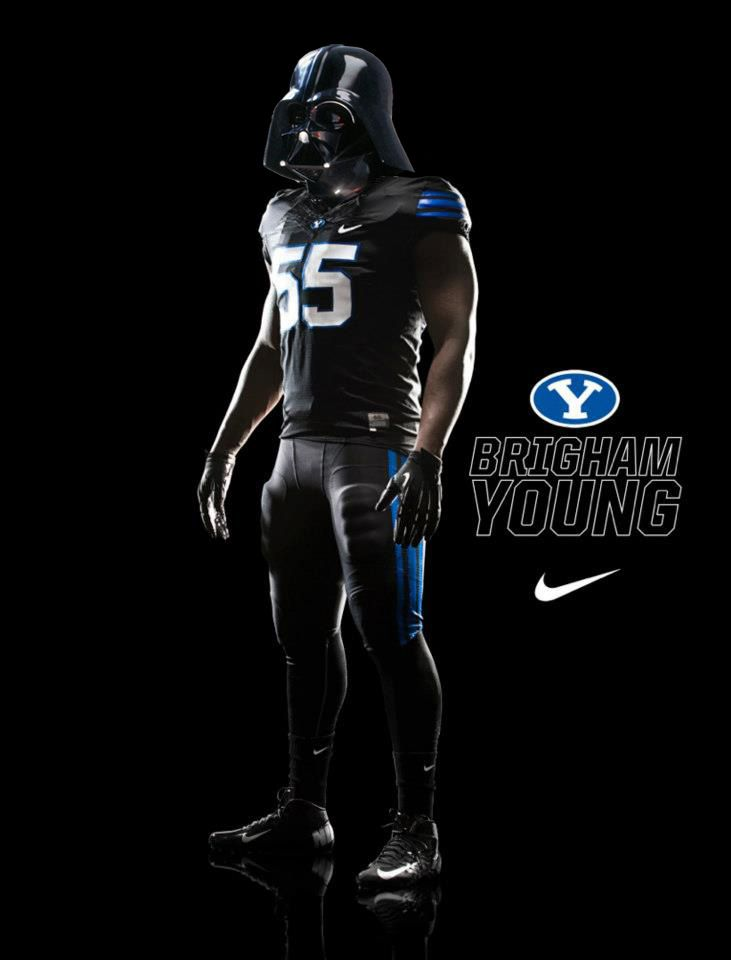 Never Underestimate The Power Of The Dark Side Blackout Byu Byu Football Byu Sports College Football Uniforms