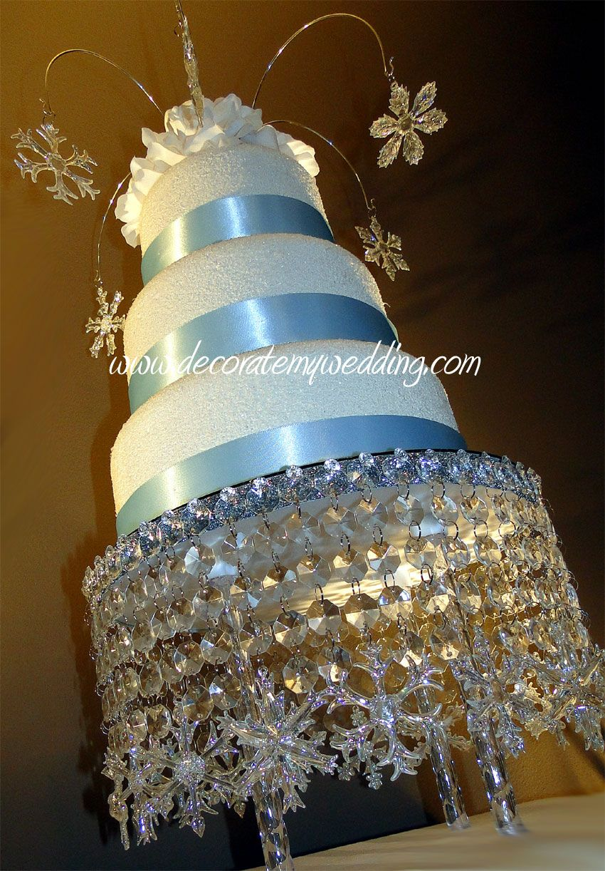 Image detail for crystal snowflake cake stands reception