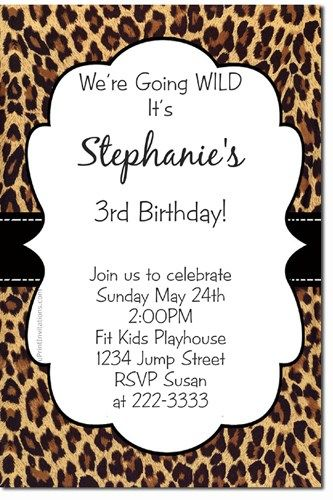 Animal print birthday invitations any color scheme download jpg leopardprintbabyshowerinvitations animal print birthday invitations animal print filmwisefo Image collections