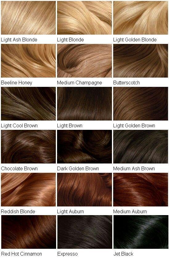 Hair Colour Chart Hairstyles Clairol Hair Color Chart Loreal Hair Color Clairol Hair Color